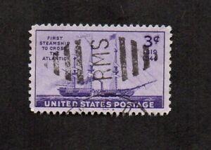 "US #923, steamship ""Savannah"" with Railway Mail Service killer cancel."