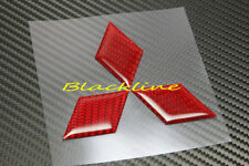 For Mitsubishi Lancer Red Carbon Fiber Hood OR Trunk Emblem Decal EVO Eclipse