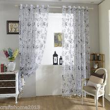 Schlaufenschal Vorhang Gardine Gardinenschal Dekoschal Schwarz Weiß Blumen Moder