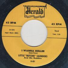 70's DOO-WOP REPRO LITTLE BUTCHIE SAUNDERS-I Wanna Holler/Great Big Heart HERALD