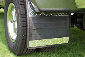 Owens Mud Flaps Classic Dually Rubber/Diam Tread Inserts For 11-16 Ford F350/19