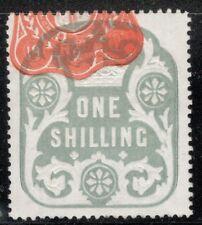 Edward VII - 1s Blue - Revenue - Very Early Edward 19th February 1901