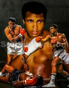 Muhammad Ali Boxer Liston Cassius Marcellus Clay Boxing Art 3 8x10-48x36 CHOICES