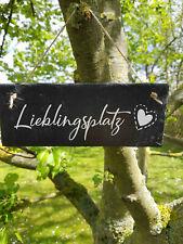 ST 126 - Lieblingsplatz Schild Schieferschild Schiefertafel Lasergravur