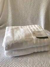 Threshold Zero Twist Spa Bath Towel White Opaque 2 Pc