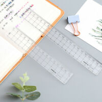 Transparent Plastic Straight Ruler Measurement Scale Tool Student School Sup_AU