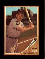 1962 TOPPS #73 NELLIE FOX EXMT WHITE SOX HOF *SBA2223