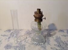 Vintage French Oil Table Lamp with Clear Glass Reservoir (3368)