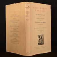 1930 Broadside Ballads Restoration Period Fawcett First Limited Edition Uncommon