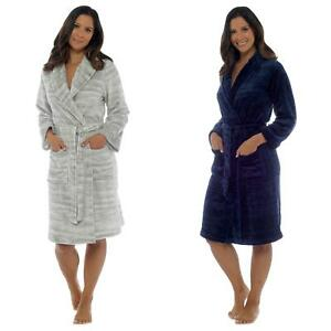 Ladies Shawl Collared Marl Effect Dressing Gown