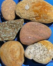 New Listing30 lbs Lot #1 Extra Large Colorful River Rocks Water Feature Aquarium Landscape