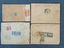 Straits Settlement, Malaysia, 4 Briefe aus 1936-48 ein Zensurbrief  (H29)