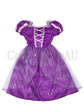 AU Stock~ DISNEY Rapunzel Long Hair Princess Dress Kids Tangled Cosplay Costume