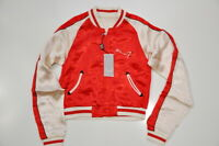 Express x Seven7 Size Small Satin Bomber Jacket Hawaii Embroidered Women's New