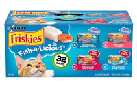 Purina Friskies Wet Cat Food Variety Pack, Fish-A-Licious Shreds (32) 5.5Oz Cans