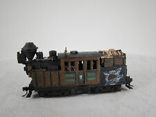 HO Logging Climax Steam Locomotive - DCC + Sound - custom built and weathered