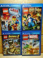 Playstation Vita LEGO Video Game lot Harry Potter Batman 2 Marvel Super Heroes