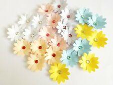Gem Flowers Papercraft Embellishments Scrapbooking 5cm Floral Card Making Crafts