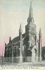 A View of the West Side German Lutheran Church, St Paul MN 1912