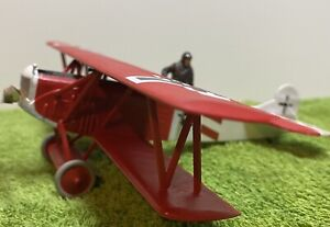 Fokker D-VII and pilot scale 1/48, HAND BUILT with decal upgrade