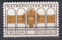 USA Briefmarke gestempelt 20c Metropolitan Opera 1883 - 1983 / 338