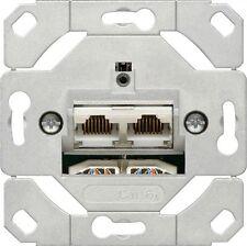 Gira Netzwerkdose 2fach Cat.6A IEEE 802.3an Einsatz 245200