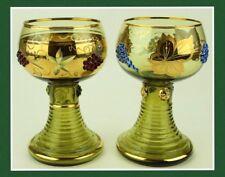 Vintage Bar Moser ? Wine Glasses Goblets Roemer Romer German Barware Gold (160)