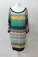 MISSONI MARE Ladies Multi-Coloured Crochet Beach Cover Up Mini Dress IT40 UK8