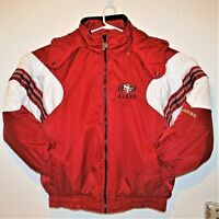 Vtg 90s San Francisco 49ers Forty-Niners NFL Pro Player Puff Full Zip Jacket  XL