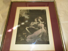 MARIANNE & AMELIA DAUGHTERS OF SIR T. FRANKLAND OB 1795 & 1800; FRAMED PRINT