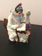 Schmid Music box clown with Mouse Plays Love Letters Wind Up .Signed