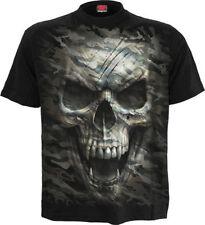 Herren-T-Shirts mit Rundhals und Totenkopf Spiral
