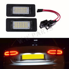 2x For Audi A4 B8 A5 Q5 Passat S5 License Number Plate LED Light LampError Free
