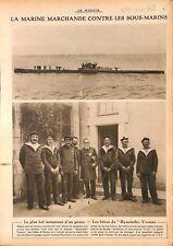 Marine Marchande contre Sous-Marins de Kaiserliche Marine WWI 1917 ILLUSTRATION