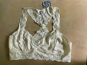 NWT Intimately by Free People Lace Bralette Wirefree Racerback Wirefree Ivory L