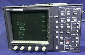 TEKTRONIX WFM 601A Signal Component Monitor