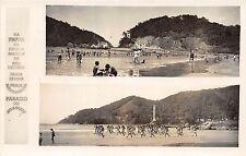 C53/ Cape Verde Sao Vicente Island 2View Foreign Rppc Postcard Praia Swimmers