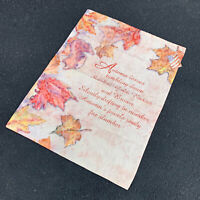 Autumn Leaves Tumbling Down Fall October Maple Leaves Wall Hanging
