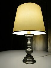 Retro Vintage French ETAIN Pewter Baluster Table Lamp C/W   Light Shade
