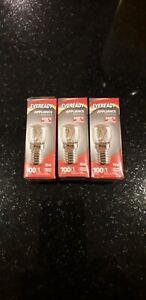 3 x 15 Watt Bulb Pygmy Oven EVEREADY Genuine E14 Salt Lamp SES Screw Cap 300c