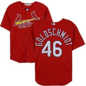 PAUL GOLDSCHMIDT Autographed St. Louis Cardinals Red Majestic Jersey FANATICS