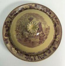 Wedgwood FERRARA Plum Purple Round Butter Dish