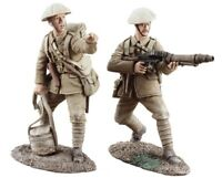 W Britain 23029 World War I British Infantry Lewis Gun Team On The Move No 1