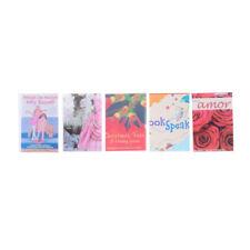 5PCS 1:12 Dollhouse Miniature colorful books B3O
