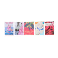 5PCS 1:12 Dollhouse Miniature colorful books