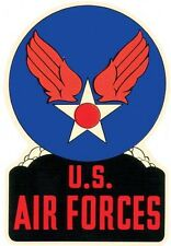 USAF  US Air Force   Forces   Vintage - Looking   Travel Decal  Sticker  Label