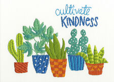 Embroidery Kit ~ Dimensions Cultivate Kindness Saying w/Desert Flowers #71-06253