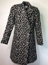 Monsoon ladies size 10 wool blend leopardprint Fitted coat