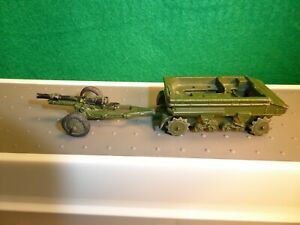 1950's Dinky Toys, #162a Army Light Dragon Tank & Cannon