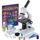 AmScope 40x-2500x Advanced Home School Compound Microscope with Slide Preparatio
